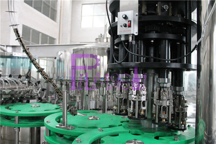 3 In 1 Glass Bottle Drinking Water Filling Plant With Full Automatic PLC Control